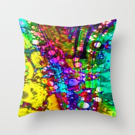 happy hazard Throw Pillow