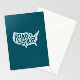 Road Trip USA - reverse Stationery Cards