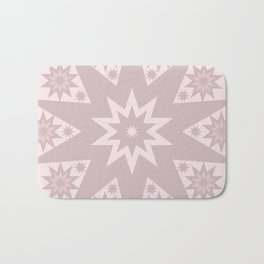 Rose Pink Star Bath Mat