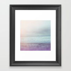 Ocean Pastel Framed Art Print