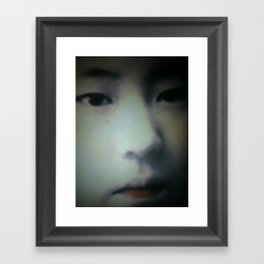 Little Asian Girl Framed Art Print
