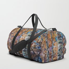Birch Trees with Palette Knife by OLena Art for @society6 Duffle Bag