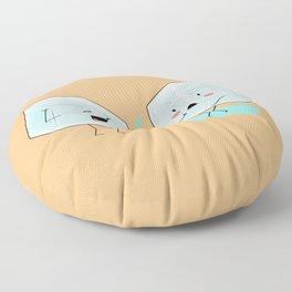 Ice cube problems Floor Pillow