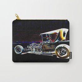 Hot Rod With Flames Carry-All Pouch