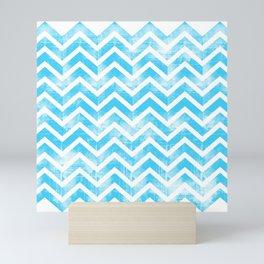 Maritime Aqua Teal Chevron Herringbone ZigZag - Mix & Match Mini Art Print