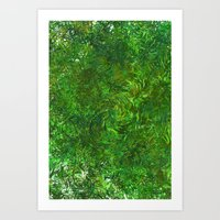 Art Print featuring Summer Breeze Forest by ART Collective