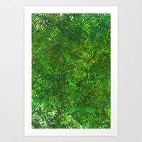 Summer Breeze Forest Art Print