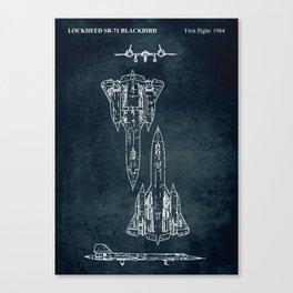 LOCKHEED SR-71 BLACKBIRD - First flight 1964 Canvas Print