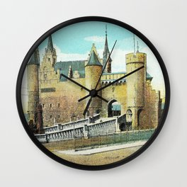 Antwerpen Antwerp Steen medieval castle Wall Clock
