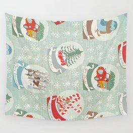 snow globes pattern Wall Tapestry