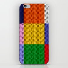 Knitted colorful squares iPhone & iPod Skin