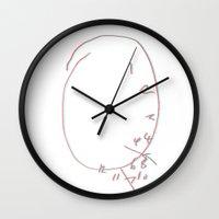 will graham Wall Clocks featuring 3D Will Graham Clock by alainaci
