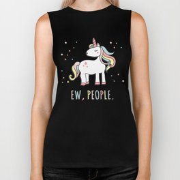 Ew People Cute Unicorn Biker Tank