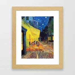 Vincent Van Gogh - Café Terrace at Night (new color editing) Framed Art Print