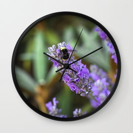 Bumblebee on lavender Wall Clock