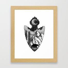 Grizzly Stroll Framed Art Print