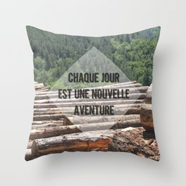 the wood factory II Throw Pillow