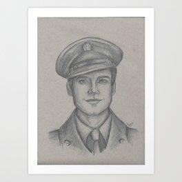 Sgt. James Barnes Art Print