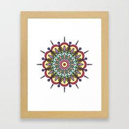 Tenacity Mandala Framed Art Print
