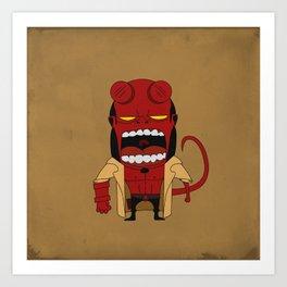 Screaming Helldude Art Print