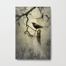 Winter Crow Metal Print