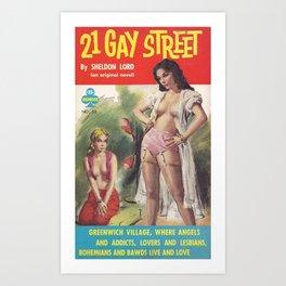 21 Gay Street (Lesbian Sexploitation) Art Print