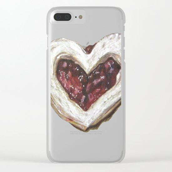 Holiday Love Cookie Clear iPhone Case