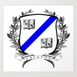 Valeton University Crest Art Print