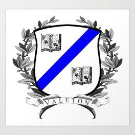 Valeton University Crest Art Print