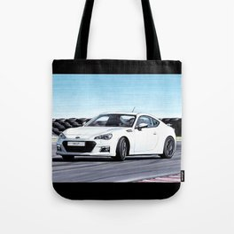 TOYOTA GT86 AUTOMOBILE DRIFTING ON SUNNY TRACK Tote Bag
