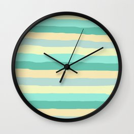 lumpy or bumpy lines abstract and summer colorful - QAB271 Wall Clock