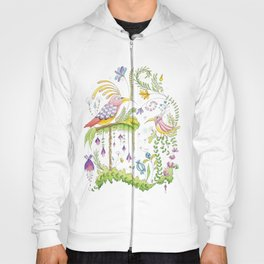 garden and birds Hoody