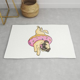 Dog with Sprinkles and Donat Rug