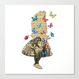 Alice In Wonderland - Vintage Wonderland Book Canvas Print