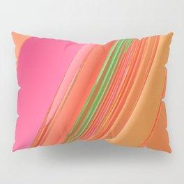 Peach Apricot Mango Bold Stripes Pillow Sham
