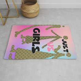 JUST US GIRLS Graphic Design Illustration Print Rug