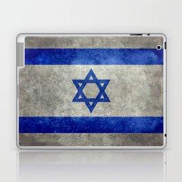 Israeli National Flag in grungy retro style שְׂרָאֵל Laptop & iPad Skin