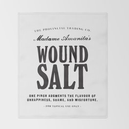 Wound Salt Throw Blanket