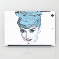 audrey iPad Cases featuring Audrey by Susana Miranda ilustración