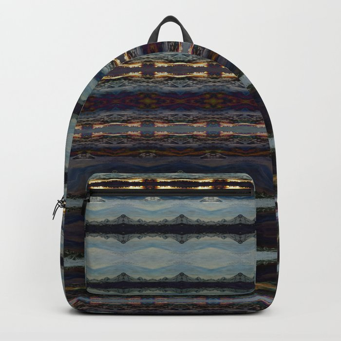 Bending Mountains Before Work Backpack