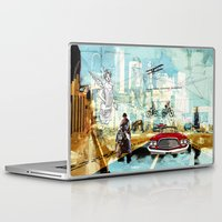technology Laptop & iPad Skins featuring  Transportation  technology by Design4u Studio