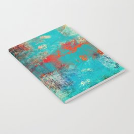 Aztec Turquoise Stone Abstract Texture Design Art Notebook