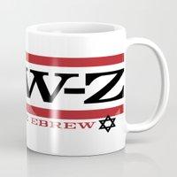 jay z Mugs featuring Jay-Z, umm I mean Jew-Z (H to the EBREW)! by jewtees
