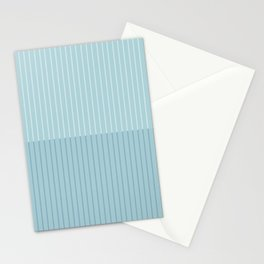 Color Block Lines VIII Blue Stationery Cards