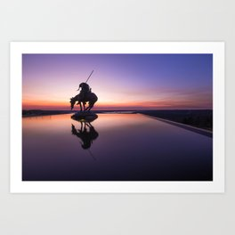 Reflections at the End of the Trail Art Print