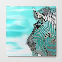 Zebra Sky Metal Print