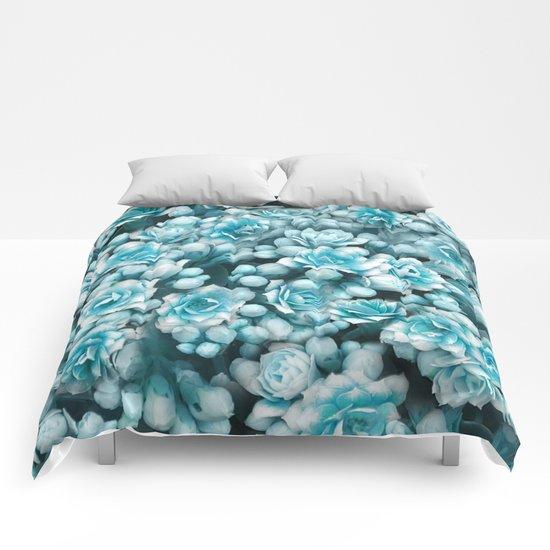 Blue flowers Comforters