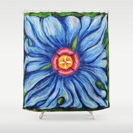 Beaux Arts Blue  Shower Curtain