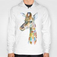 giraffe Hoodies featuring Giraffe by Brandon Keehner