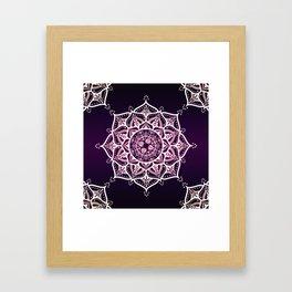 Violet Glowing Spirit Mandala Framed Art Print